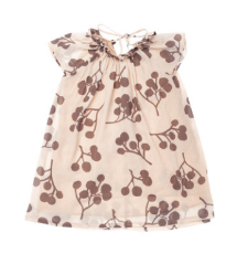 Girls' Tent Dress with Ruff Collar - Stone Berries | OM416