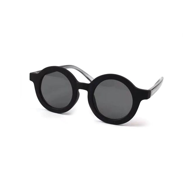 Kids Round Sunglasses | Black OM528