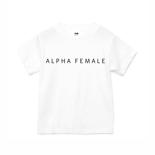 Girls Alpha Female T-shirt | White OM229G