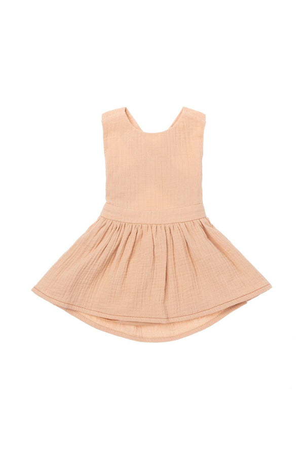 Baby Pinafore Dress - Peach | OM433