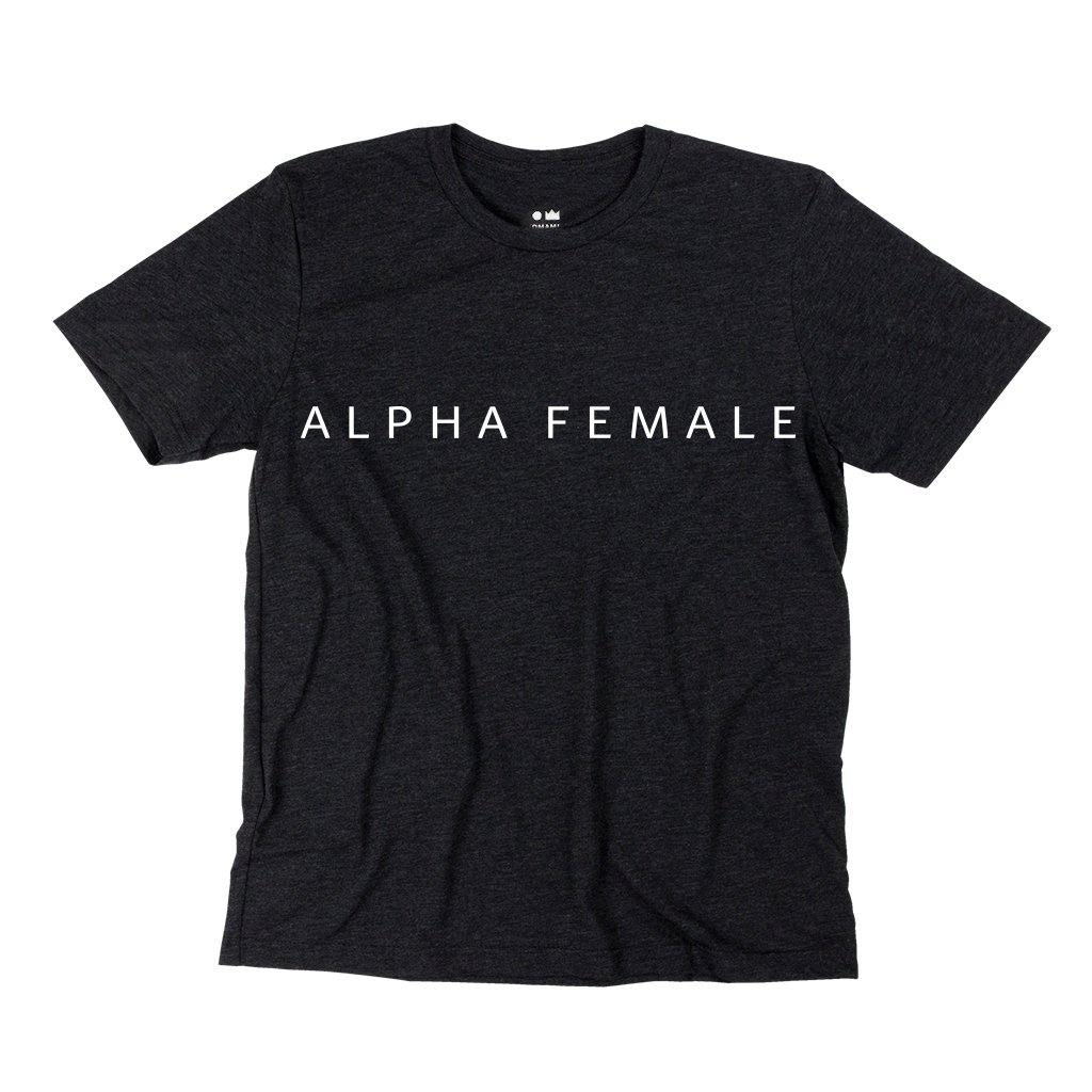 Alpha Female T-shirt | Women | Charcoal Black OM229W - OMAMImini
