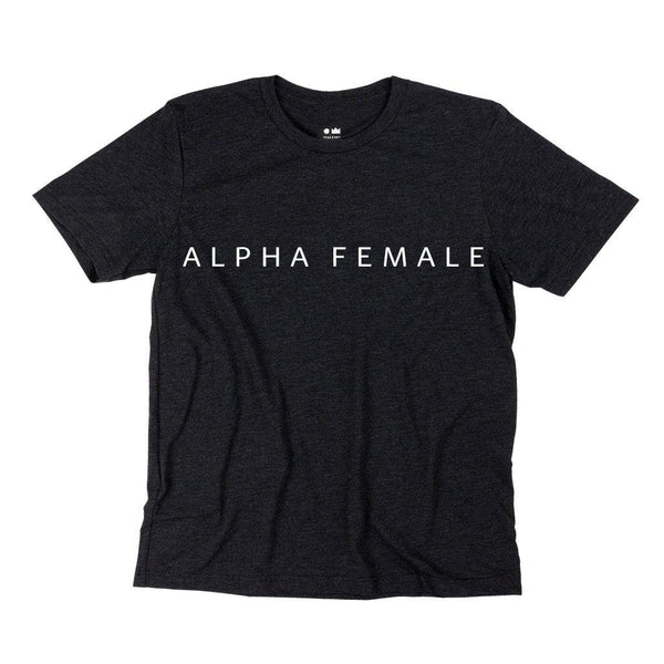 Alpha Female T-shirt | Women | Charcoal Black OM229W