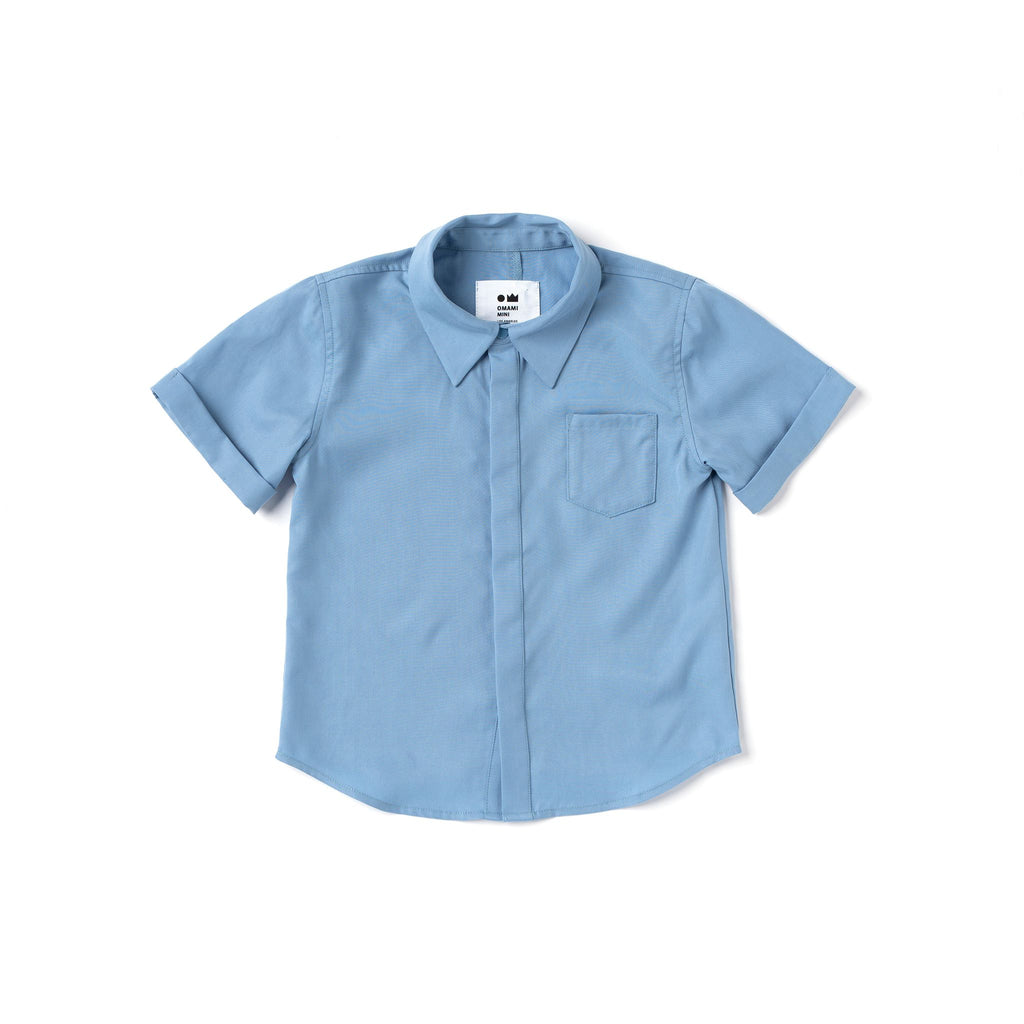 Boys Button Down Shirt | Blue OM504