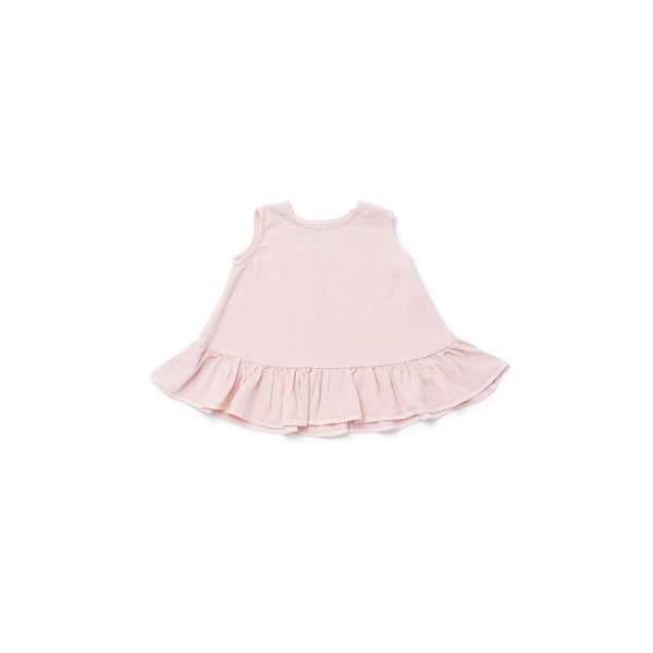 OMAMIMINI:Baby Dress with Ruffle | Pink OM291