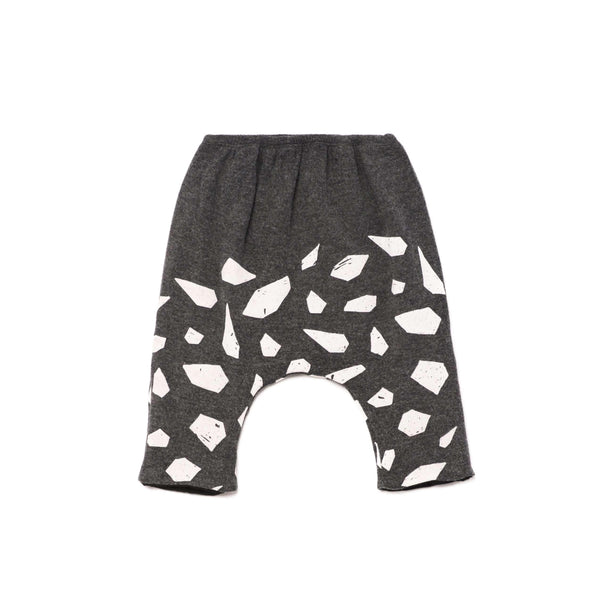 OMAMIMINI:Baby Knit Harem Pants with Icebergs Print | OM263 Charcoal