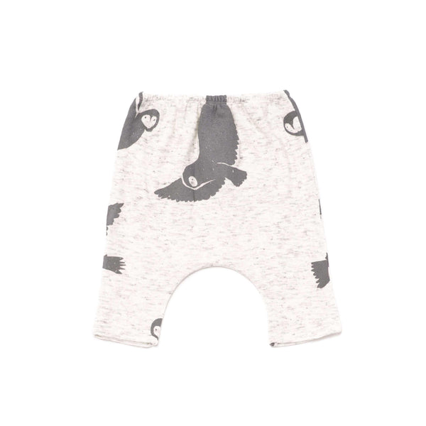 OMAMIMINI:Baby Knit Harem Pants with Snowy Owls Print | OM263 White