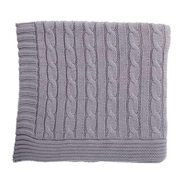 OMAMIMINI:Baby Sweater Knit Blanket | Gray