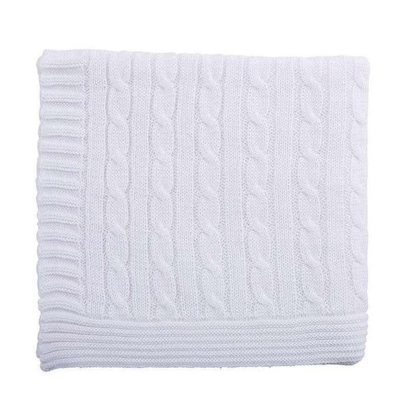 OMAMIMINI:Baby Sweater Knit Blanket | White