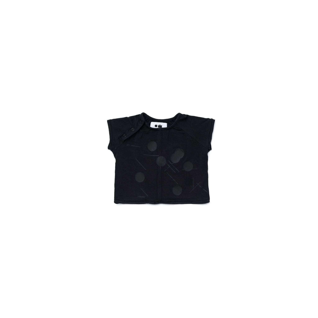 OMAMIMINI:Baby T-Shirt with Print | Black OM292
