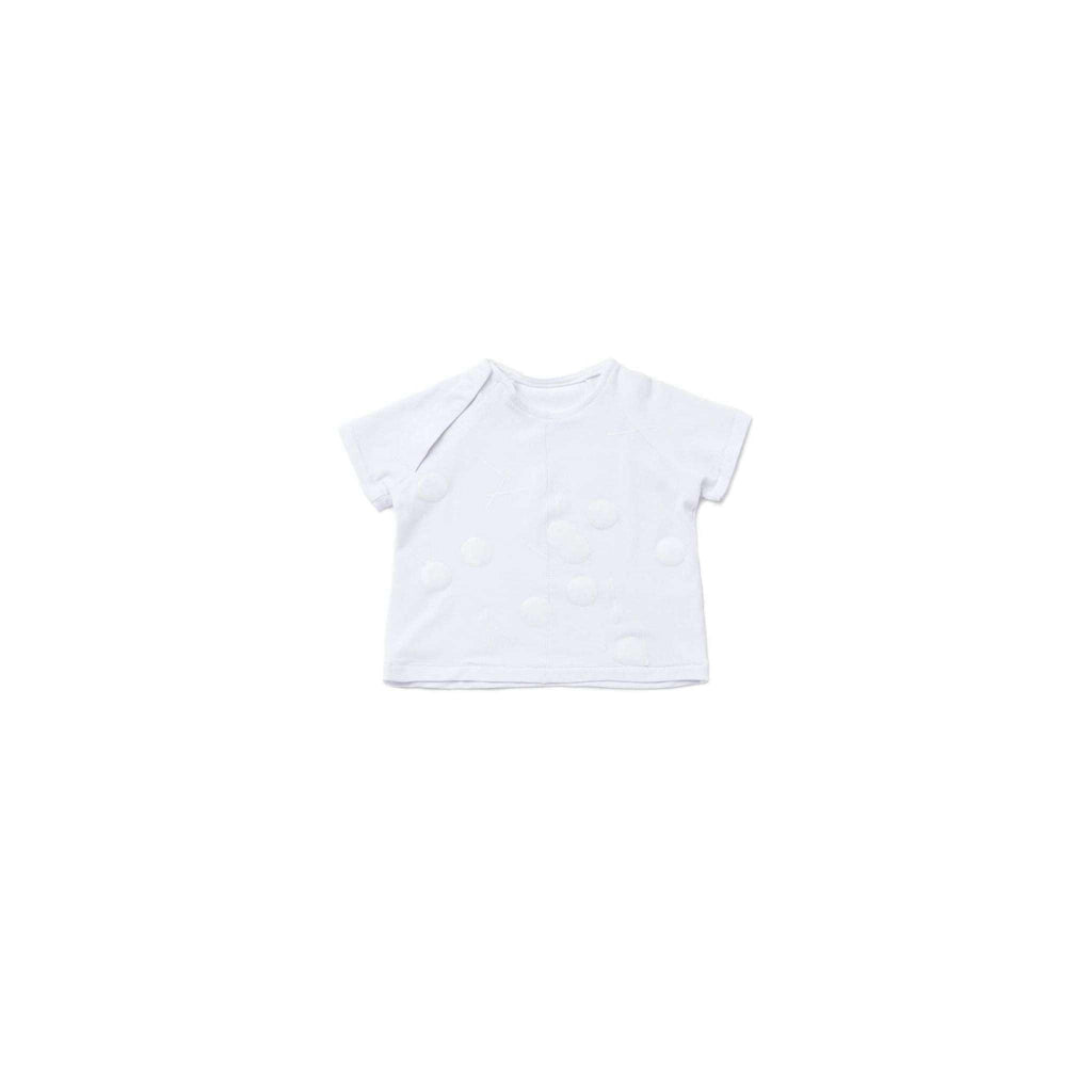 OMAMIMINI:Baby T-Shirt with Print | White OM292
