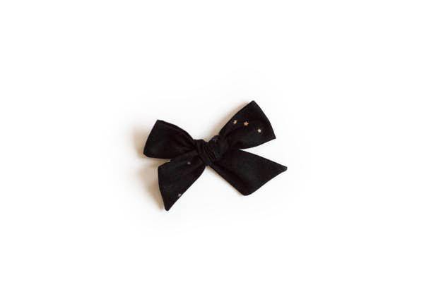 Black Orion Bow Clip