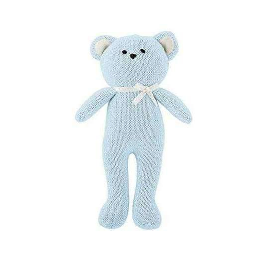 OMAMIMINI:Blue Bear Knit Toy
