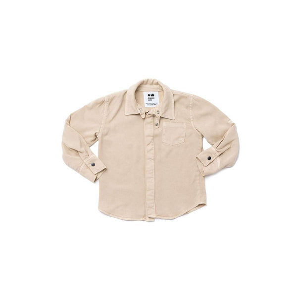 OMAMIMINI:Boys Button-Up Shirt | Khaki OM286