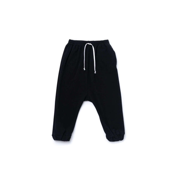 OMAMIMINI:Boys Jogger Pants in Terry | Black OM367