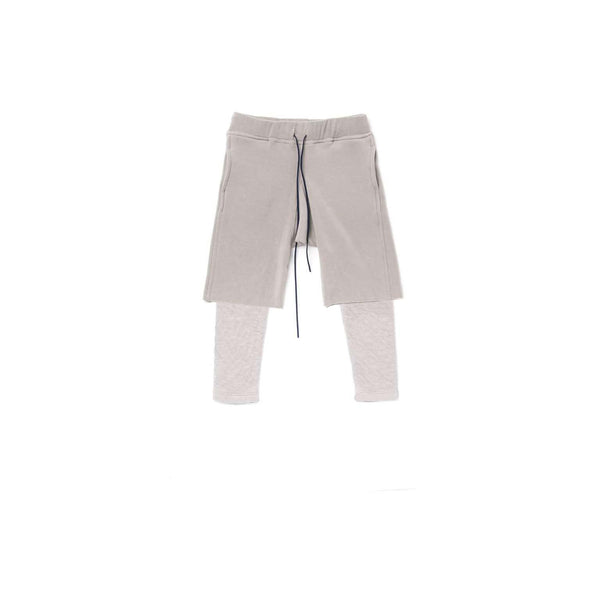 OMAMIMINI:Boys Layered Fleece Shorts | Gray OM324