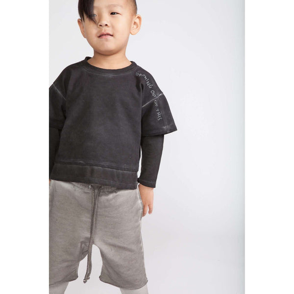 f6d4d608 Boys Layered Shorts with Strings | Vintage Grey OM258 | OMAMImini