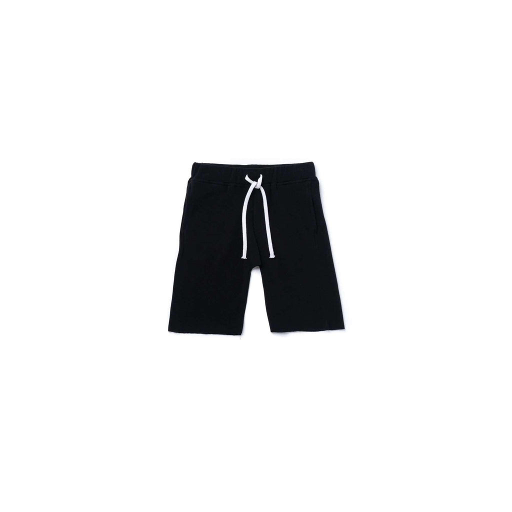 OMAMIMINI:Boys Pull-Up Terry Shorts | Black OM365