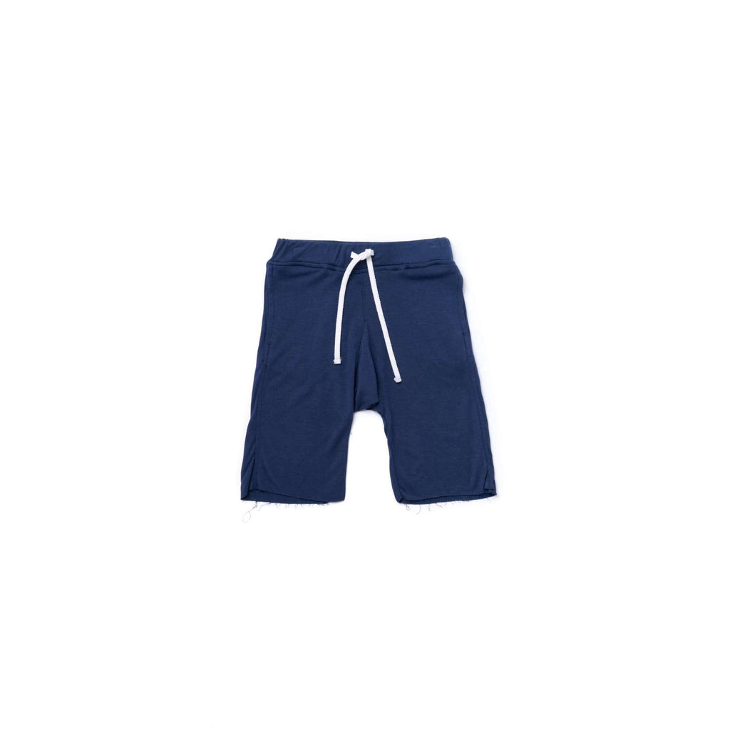 OMAMIMINI:Boys Pull-Up Terry Shorts | Navy OM365