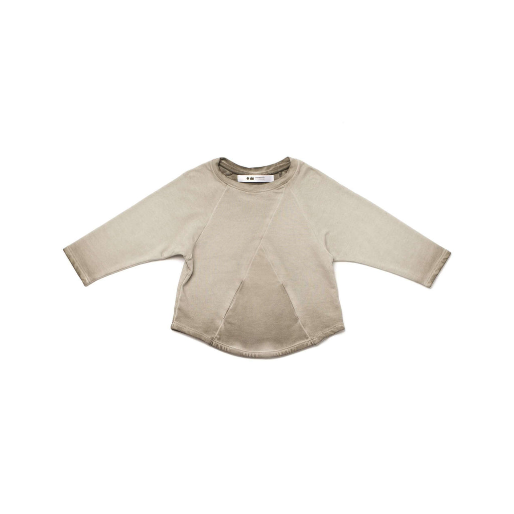 OMAMIMINI:Boys Terry Longsleeve Sweatshirt with Front Pocket | Vintage Grey OM251