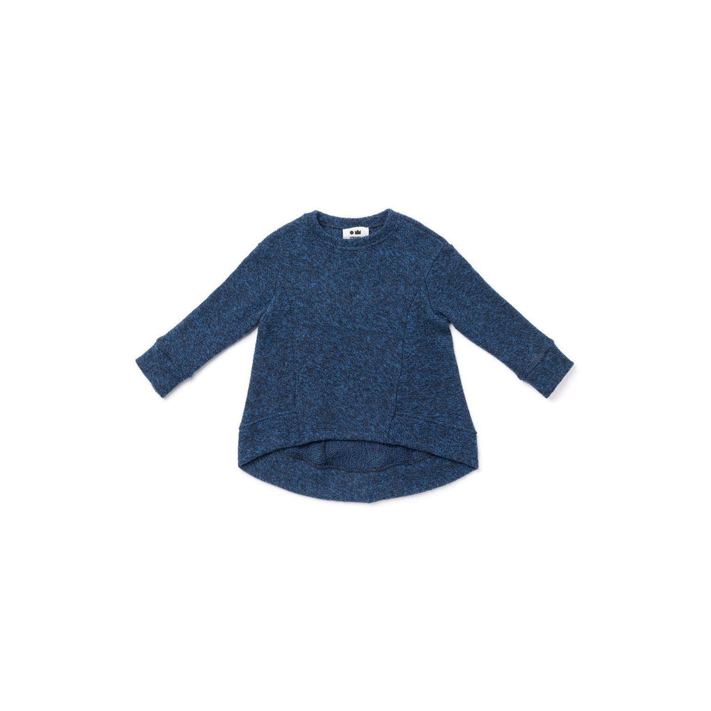 OMAMIMINI:Brushed Knit Hi-Low Sweater | Blue OM315