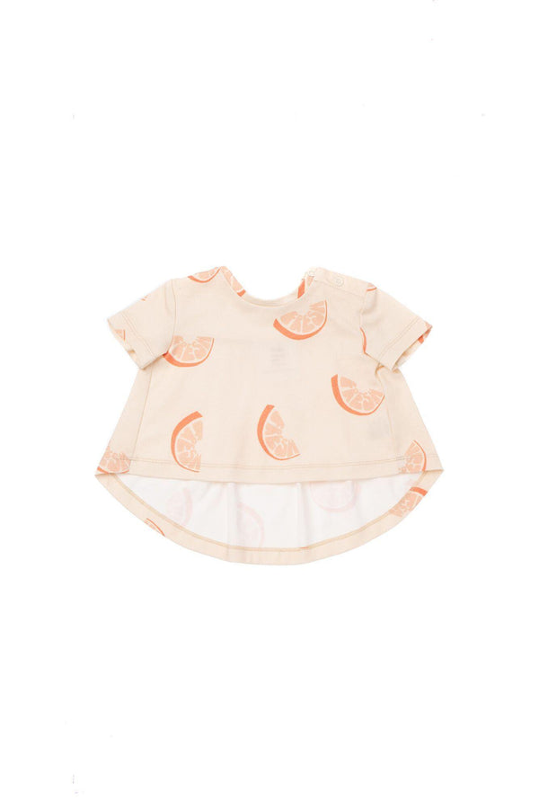Baby T-Shirt with Ruffled Back | Orange Fresh | OM441