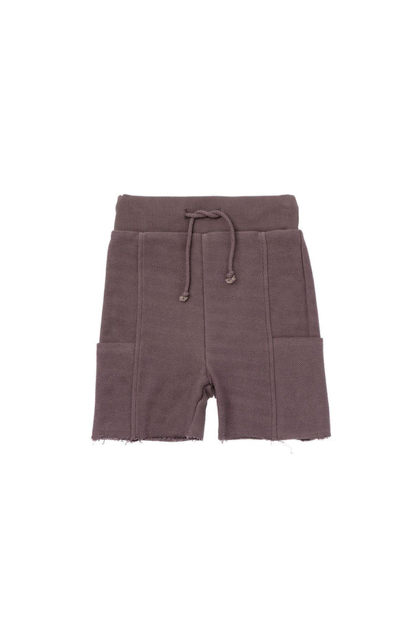 Boys' Pull-Up Shorts with Side Pockets - Stone | OM431
