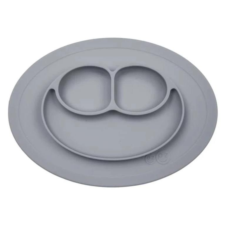 Mini Mat - Placemat and Plate with Suction | Gray - OMAMImini