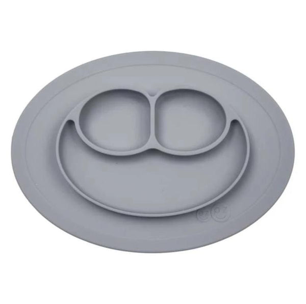 Mini Mat - Placemat and Plate with Suction | Gray