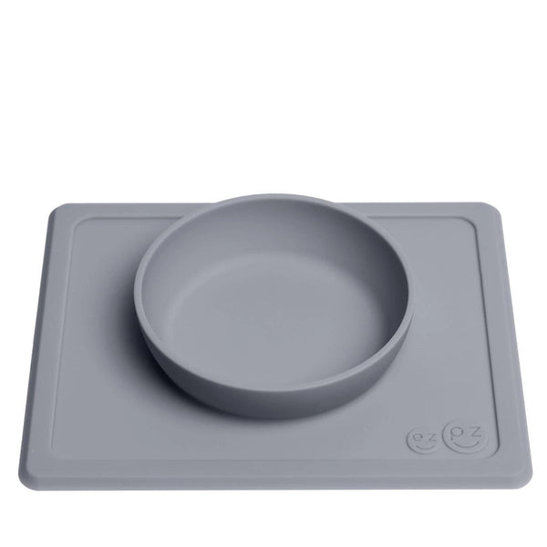 Mini Bowl + Suction and Placement Mat in One | Gray
