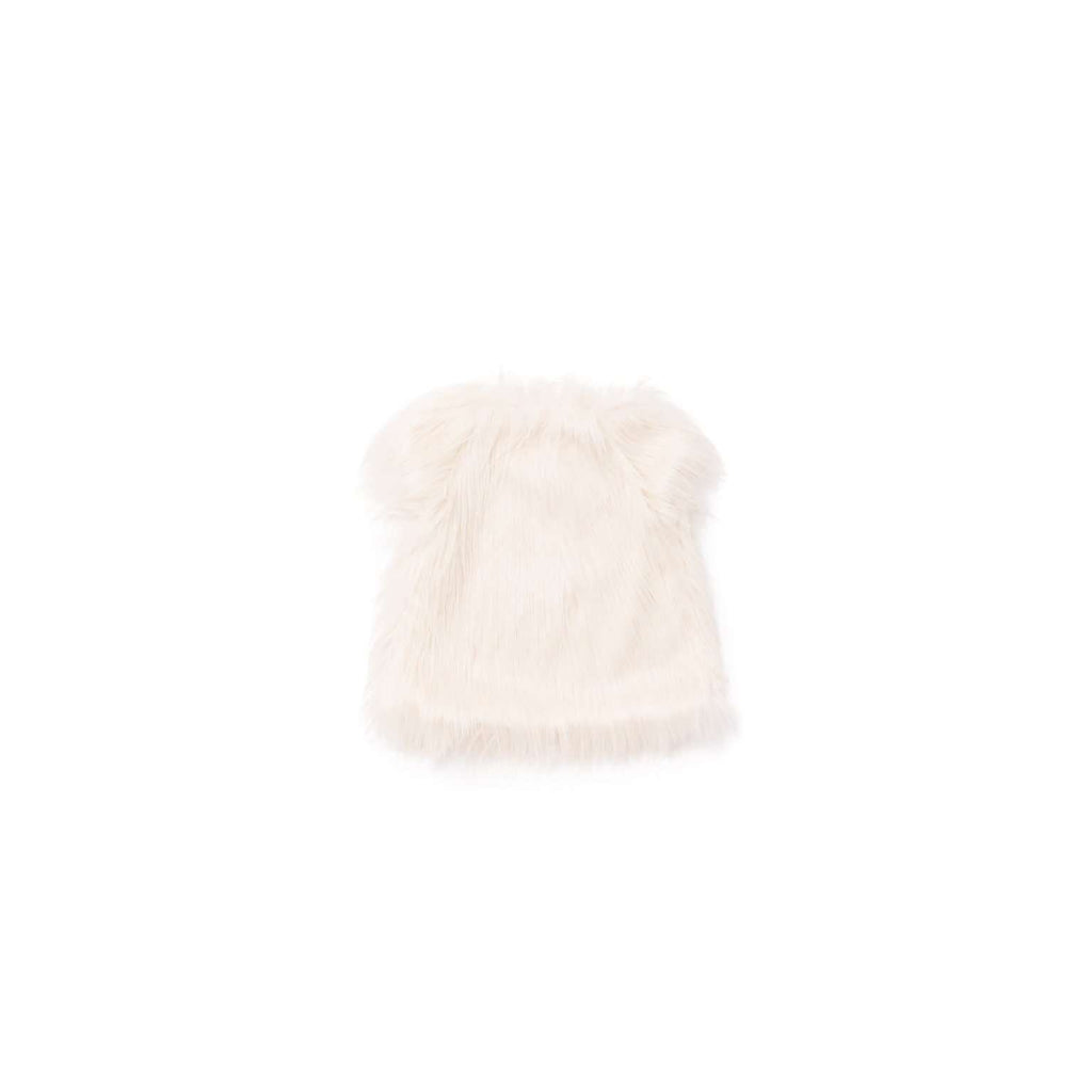 OMAMIMINI:Faux Afghan Fur Cap Sleeve Top | Off-White OM306