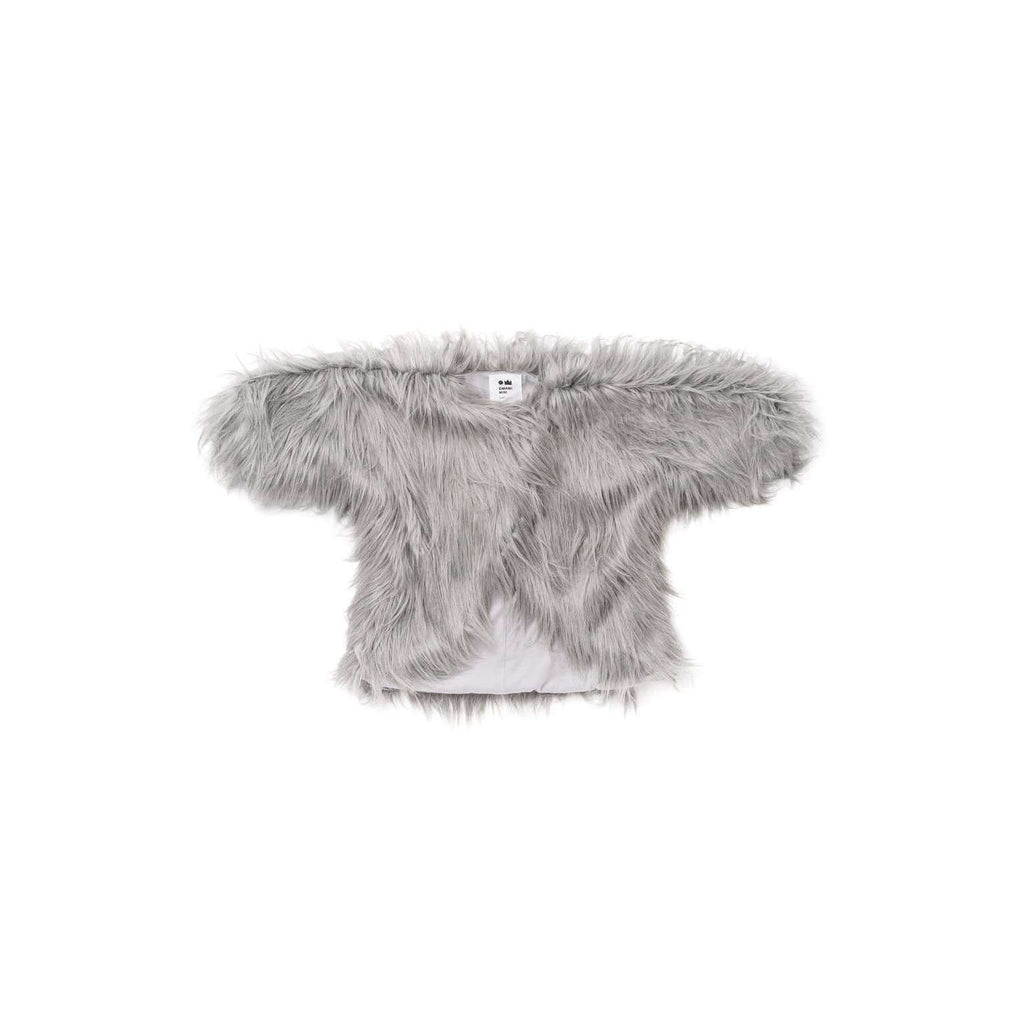 OMAMIMINI:Faux Afghan Fur Coat | Gray OM307
