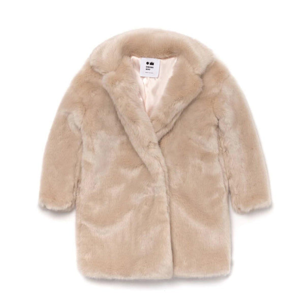 Kids Fur Coat | Sand | OM387