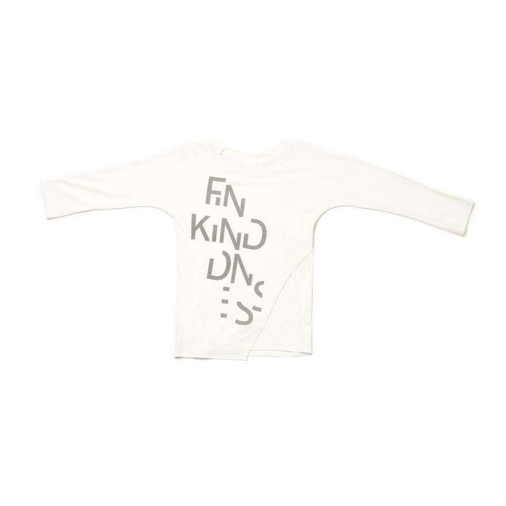 OMAMIMINI:Find Kindness Kids Long Sleeve Tee | White OM189