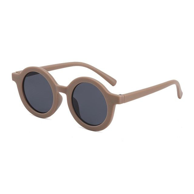 Kids Round Sunglasses | Mocha OM528