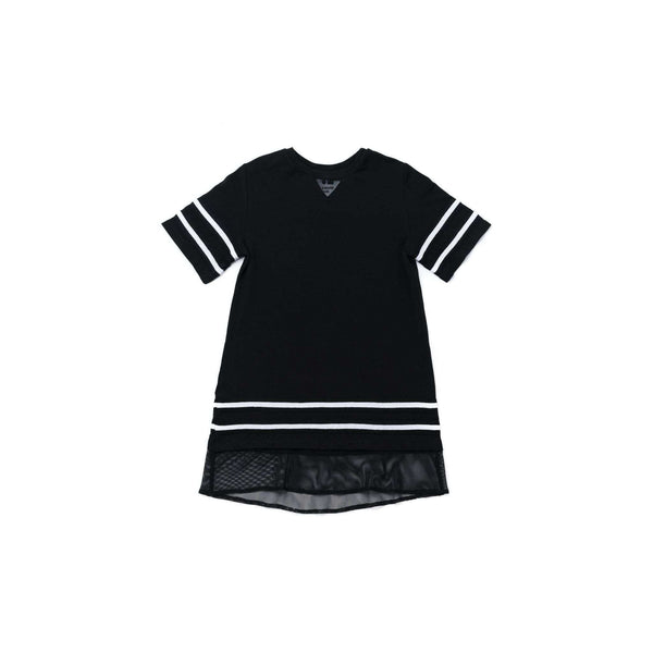 OMAMIMINI:Girls Baseball Tee Dress | Black OM268