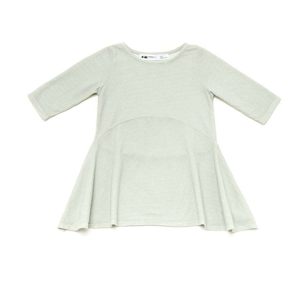 OMAMIMINI:Girls Hi-Low Tunic withDrop-Stitch Texture | Mint OM209