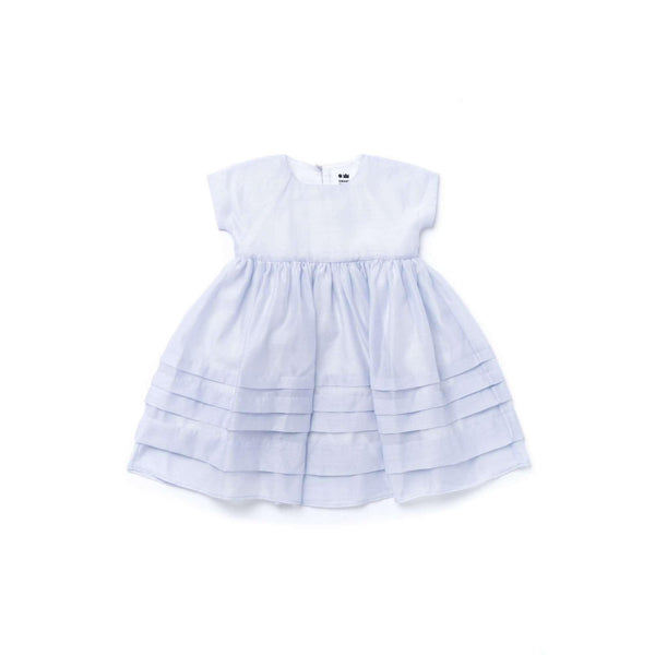 OMAMIMINI:Girls Layered Dress in Organza | Light Blue OM347