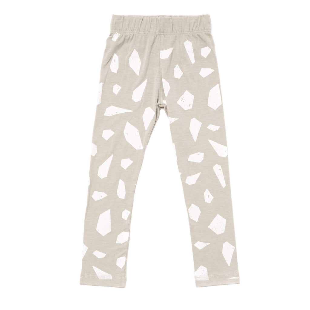 OMAMIMINI:Girls Leggings with Icebergs Print | Light Grey OM247