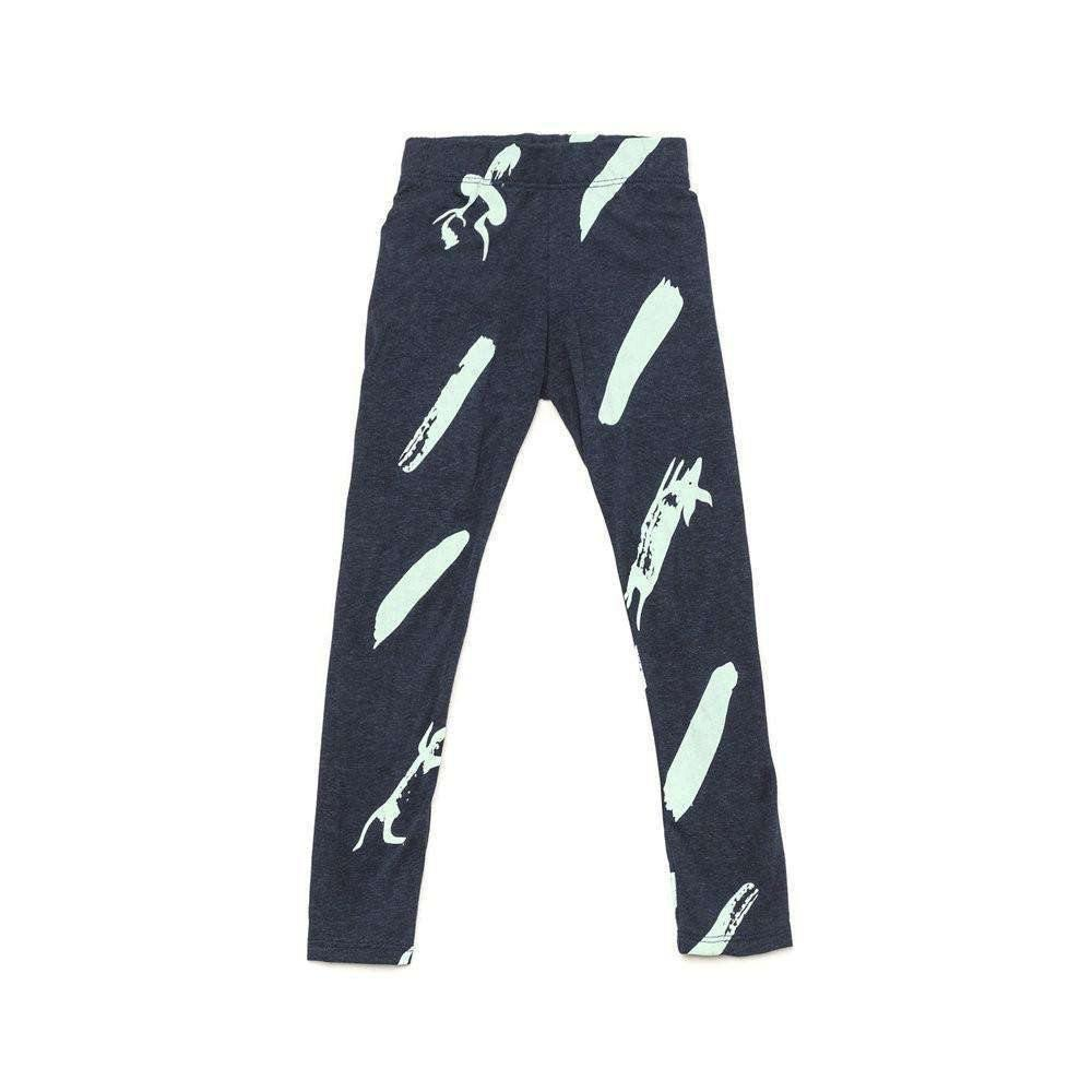 OMAMIMINI:Girls Leggings with Unfinished Print | Indigo OM207