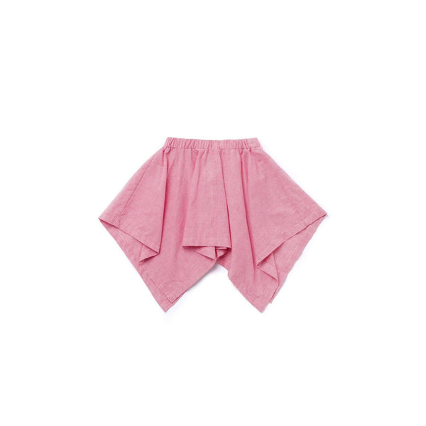OMAMIMINI:Girls Striped Handkerchief Skirt | Red OM355