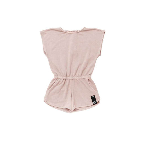 OMAMIMINI:Girls Terry Romper| Pale Pink OM274