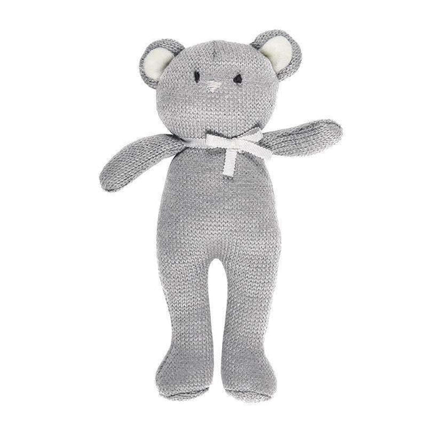 OMAMIMINI:Grey Bear Knit Toy