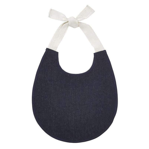 OMAMIMINI:Heirloom Bib | Dark Denim