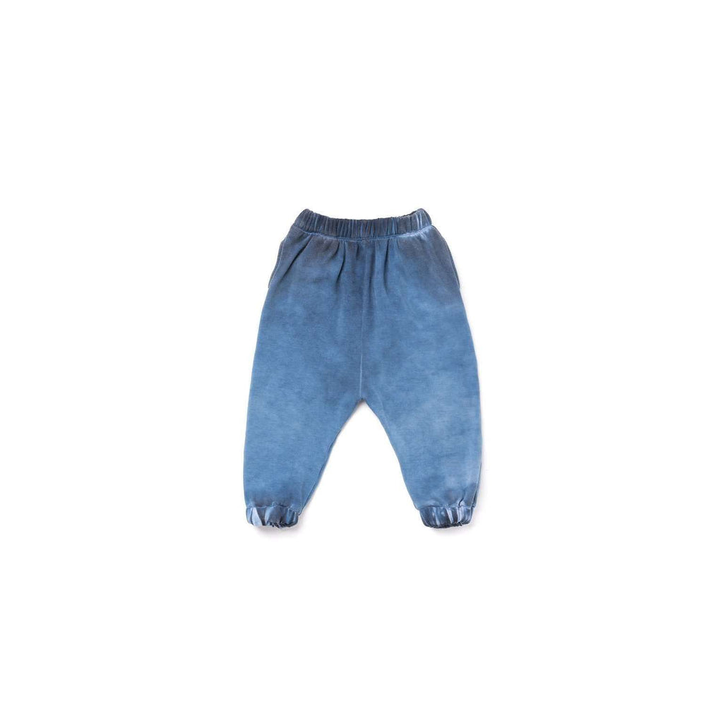 OMAMIMINI:Kids Drop Crotch Fleece Joggers | Vintage Blue OM318