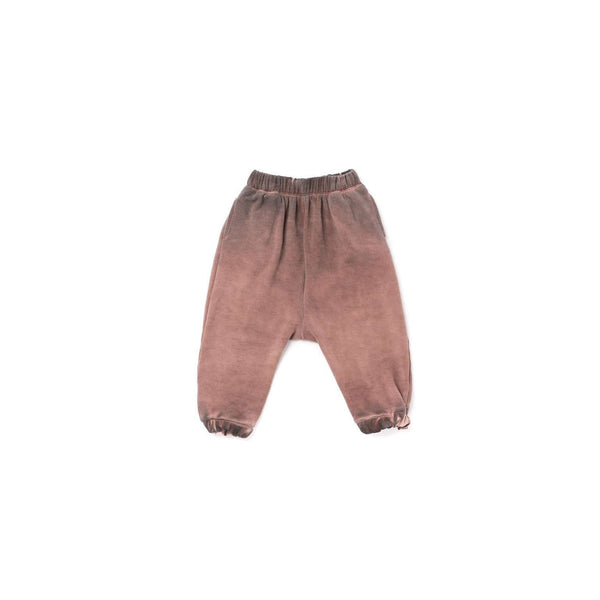 OMAMIMINI:Kids Drop Crotch Fleece Joggers | Vintage Brown OM318