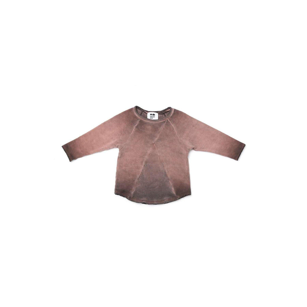OMAMIMINI:Kids Fleece Sweatshirt with Front Pocket | Vintage Brown OM321