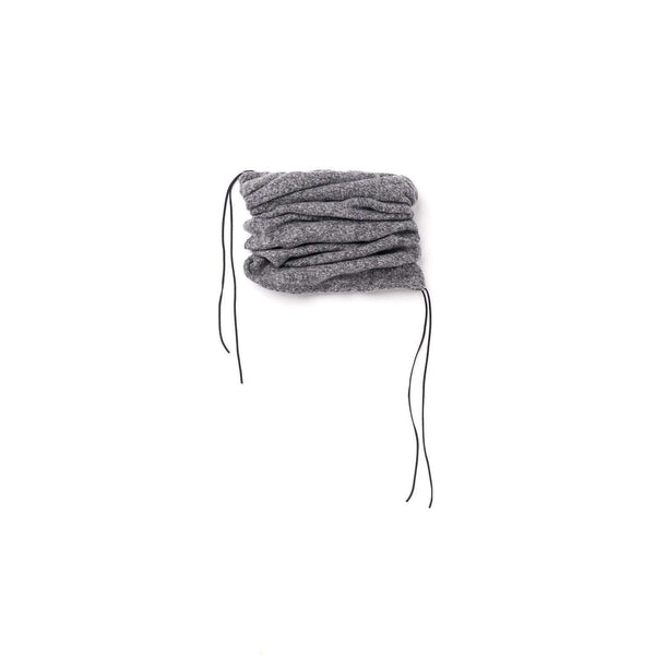OMAMIMINI:Kids Knit Tunnel Scarf with Strings | Gray OM335