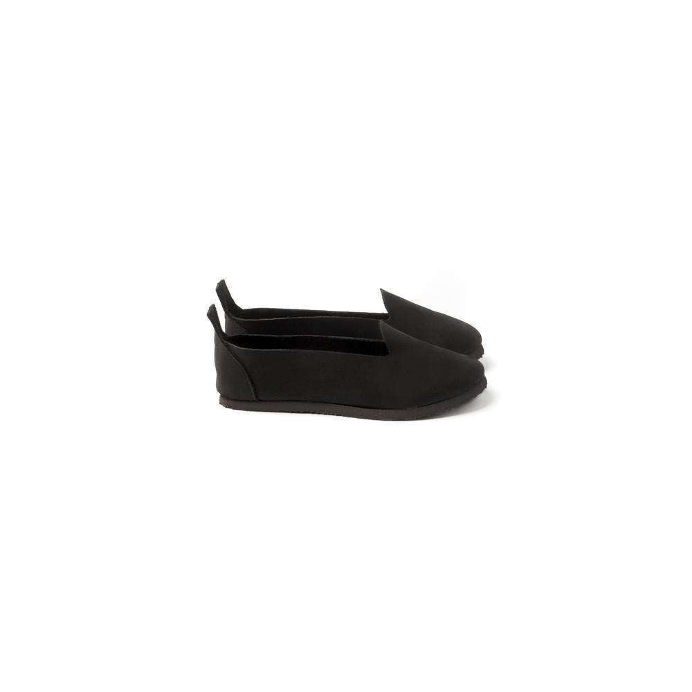 OMAMIMINI:Kids Nubuck Leather Loafer | Black OMS01