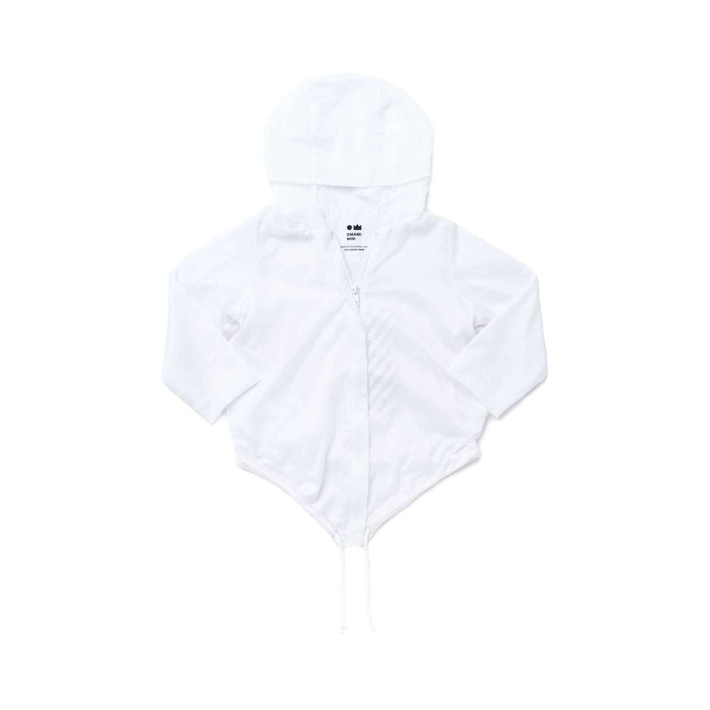 OMAMIMINI:Kids Raincoat with Hood | White OM281