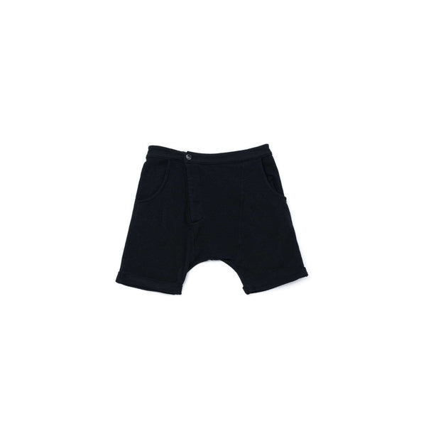 OMAMIMINI:Kids Terry Roll-Up Shorts | Black OM285